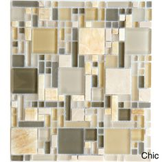 @Overstock - Here's the newest glass addition with random sizes and shapes. With the gloss and matte finish combined in this mosaic along with the natural stone, it's easy to coordinate a dramatic statement in any residential or commercial project.http://www.overstock.com/Home-Garden/Luxe-12x10.35-inch-Sheet-Wall-Tiles-Set-of-10/7658169/product.html?CID=214117 $132.99