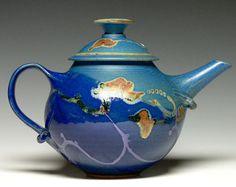Large Pottery Teapot, Hand Thrown Ceramic Teapot, Stoneware Teapot