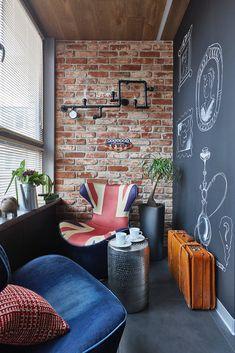 Фотография: Балкон в стиле Лофт, Квартира, Проект недели, Москва, Ольга Райская, Монолитный дом, 2 комнаты, 60-90 метров – фото на InMyRoom.ru