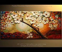 Original Abstract 48 canvasOil Acrylicpoppalette by Artcoast