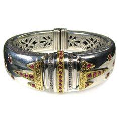 Evangelatos Ruby Stars Cuff Bracelet. See more at www.athenas-treasures.com/