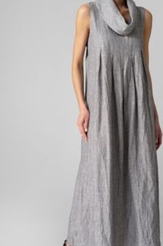 Eco dyed cowl neck dress with pockets @ corestyle