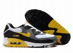 new concept f735a 62d51 Nike Air Max 90 White Grey Yellow Black