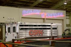 Set up and ready as the Official Trailer Sponsor of the Oklahoma Youth Expo with CSTK Custom Trailers!!  (800) 696-2989