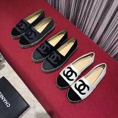 Chanel woman shoes leather espadrilles