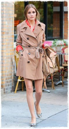 Olivia Palermo Street Style Snapshot - Olivia Palermo Layered up In a Chic Trench Coat