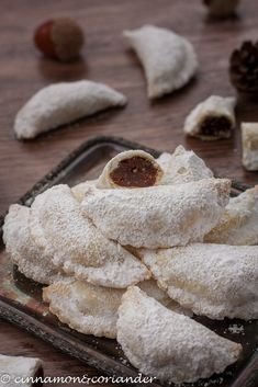 Authentic Italian Christmas Cookies with Chestnut Chocolate Filling - Chestnut Tortelli