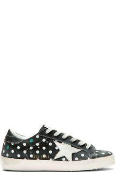 Golden Goose: Charcoal Grey Distressed Concealed Platform Super Star Sneakers