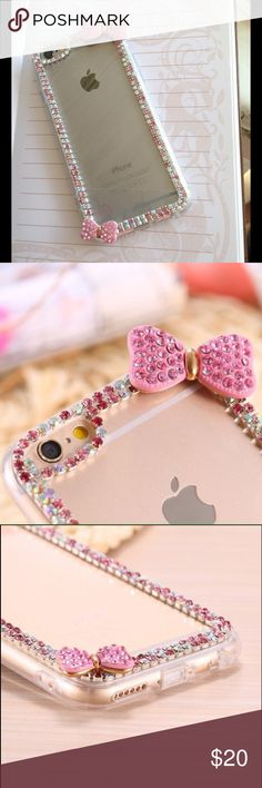 Case iPhone 6 Plus Brand new 3D bow crystal iPhone 6 Plus soft silicone Accessories Phone Cases