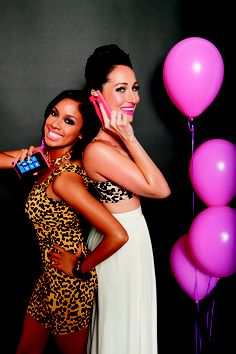We had a cool shoot with Kandi and Niki … stay tuned to see why they are so happy. #DualityCosmetics #NokiaPink