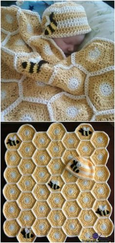 Sweet As Honey Crochet Baby Blanket