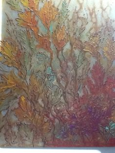 Leaves - on glass