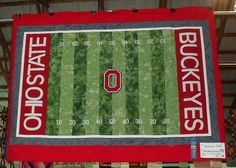 Ohio State Buckeyes quilt | Football Fanatic pattern from Alaska Seams Like Home
