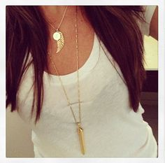 Layer is up with some Stella & Dot charms & Rebel Pendant! Probably my #1 combo!