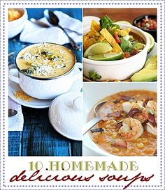 10 Delicious Homemade Soups to try for sure! #soup #recipes