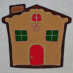 Needlepoint Canvas - House christmas cookie
