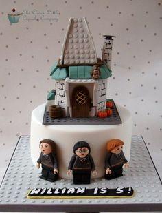 Lego Harry Potter Cake (Hagrid's Hut)  Cake by CleverLittleCupcake Harry Potter Cake Hagrid, Harry Potter Birthday Cake, Harry Potter Food, Harry Potter Theme, Movie Cakes, Lego Cake, Character Cakes, Halloween Cakes, Fancy Cakes