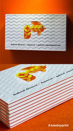 Adorable Letterpress Business Cards produced by Jukebox