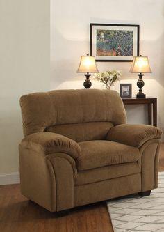 Chair Talon Collection 8511Cn-1  $165  Finish: Brown Chenille Finish  Dimensions:  46 x 36 x 39H