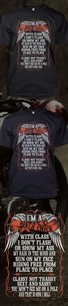 Are you a biker?! Check out this awesome I'm a Biker Chick t-shirt you will not find anywhere else. Not sold in stores and only 2 days left for free shipping! Grab yours or gift it to a friend, you will both love it