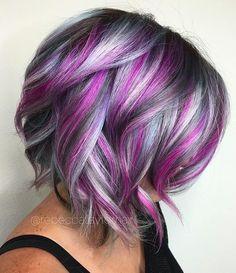 Purple periwinkle highlights