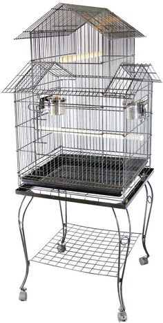 Large Metal Bird Cage Stand Aviary Parrot Budgie Canary Cockatiel Stand Wheels Cockatiel, Budgies, Bird Cage Stand, Metal Birds, Birdcages, Parrot, Wheels, Parrot Bird, Parakeets