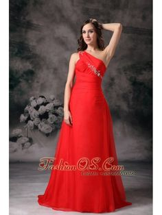 Nice Gold Dresses For Prom Custom Made Red One Shoulder Plus Size Prom / Evening Dress Chiffon Appliques  w... Check more at http://24shopping.cf/my-desires/gold-dresses-for-prom-custom-made-red-one-shoulder-plus-size-prom-evening-dress-chiffon-appliques-w/