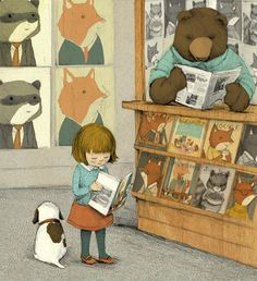 I can never resist images of reading. Old children's librarians never die!