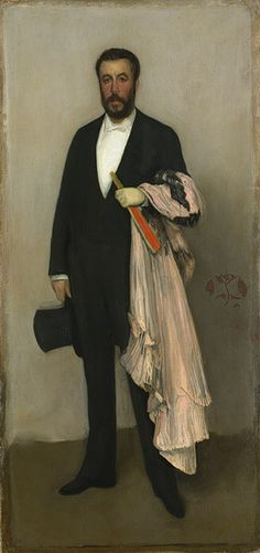 Arrangement in Flesh Colour and Black: Portrait of Théodore Duret, 1883 James McNeill Whistler (American, 1834–1903) Oil on canvas