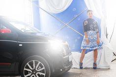 The youngest #fashionblogger for the #sisterMAGshooting for #Renault is Konni who runs the blog Envoguebaby (www.envoguebaby.blogspot.com). #sisterMAGfashion #sisterMAG21 photo: Marco Di Filippo Skirt: Evi Neubauer Hair & MakeUp: Jana Kalgajeva
