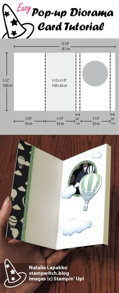 Pop-up diorama card tutorial by Natalie Lapakko featuring products from Stampin' Up!