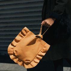 ruffled leather - so feminine