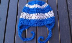 Crocheted Baby Cap with ear Flaps by silentscream02 on Etsy, $10.00