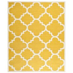 Safavieh CAM140Q Cambridge Wool Pile Hand Tufted Gold/Ivory Rug