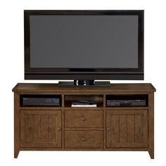 Hearthstone Entertainment TV Stand by Liberty Furniture - Sheely's Furniture & Appliance - TV or Computer Unit Ohio, Youngstown, Cleveland, Pittsburgh, Pennsylvania