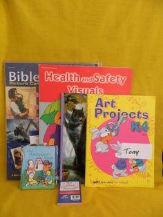 ABeka Preschool K3 or K4 Bible, Reading, Art & Visuals,  Homeschool or School  #HeavyCardstockCards