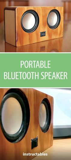 Portable Bluetooth Speaker 2X3W  #woodworking #electronics #music