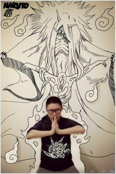 Cool Photos of Artist Trapped in His Own Manga Art Series — GeekTyrant Graffiti Murals, Graffiti Lettering, Graffiti Creator, Manga 3d, Paper Child, Otaku Problems, Collage Drawing, Perspective Art, Art Series