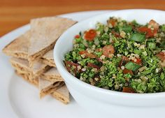 This tabbouleh salad is high in iron, manganese, and vitamins C and A, all important nutrients for the body...