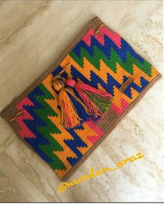 Tapestry Bag, Tapestry Crochet, Clutch Purse, Pouch, Purses, Crocheting, Coloring, Gifts, Design