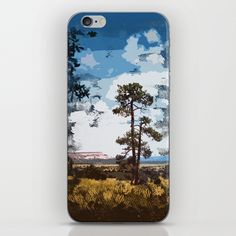 Cubist inspired digital painting of a New Mexico landscape. A lonely tree stands tall against the rugged western sky. Skins are thin, easy-to-remove, vinyl decals for customizing your device. Skins are made from a patented material that eliminates air bubbles and wrinkles for easy application.