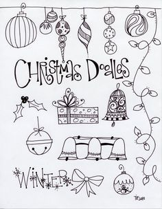 Doodle fonts, Christmas wishes and Doodles on Pinterest