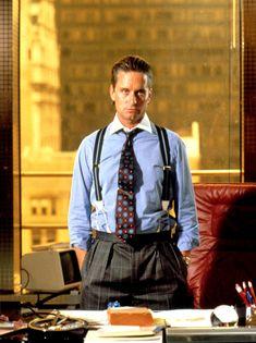 "1987 - MICHAEL DOUGLAS por ""Wall Street"" / role: Gordon Gekko"