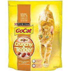 Go-Cat Crunchy & Tender with Chicken Turkey & Added Vegetables (800g) ~~ You can read more reviews of the product by visiting the link on the image. (This is an affiliate link and I receive a commission for the sales)