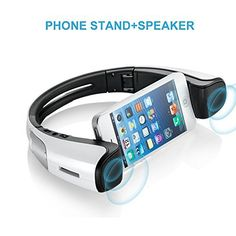 Color: White iStage Mini is Bluetooth V4.0 speaker and stand main for all kinds of Smart-phone (different brand and different size). As Bluetooth speaker, iStage Mini has two speaker drivers for high frequency and four passive radiates to boost bass, RMS 2Wx2. As a stand, it can fit all size... more details available at https://perfect-gifts.bestselleroutlets.com/gifts-for-teens/electronics-gifts-for-teens/product-review-for-portable-bluetooth-speakers-wireless-speaker-from-m