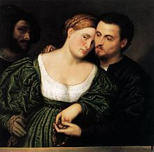Venetian couple in love, Paris Bordone - Wikipedia