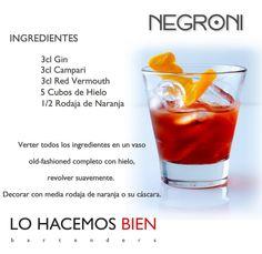 Negroni - Festejá con Estilo! de LO HACEMOS BIEN bartenders Como preparar un Negroni - Recipie How to prepare a Negroni - Party with style!