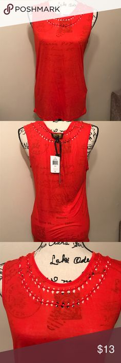 Jeans by Buffalo Cut Out Tank Jeans by Buffalo Cut Out Tank in Fiery Coral Size S. 100%Rayon i jeans by Buffalo Tops Tank Tops