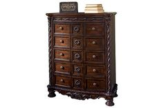 Dark Brown North Shore Chest of Drawers View 2