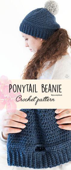 c575ed33f61 Ponytail beanie crochet pattern